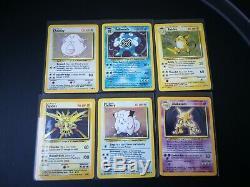 Pokemon Cards Base Set COMPLETE 102/102 Excellent/Near Mint