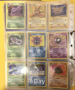 Pokemon Cards Fossil Near Complete Set 54/62