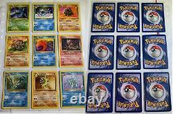 Pokemon Cards Near Complete Fossil Set 53/62, 7 Holo Rares (1999)