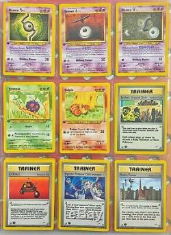 Pokemon Cards Part Complete 1st Edition Neo Destiny Set 54 Cards Near Mint