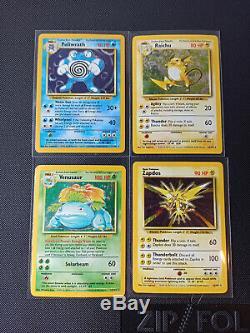 Pokemon Complete Original Base Set Near Mint 102 Cards Charizard, Blastoise