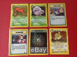 Pokemon Complete Team Rocket Set 83 Orginal Card Near Mint WOTC Charizard