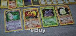 Pokemon LEGENDARY COLLECTION Near Complete LOT 94 Cards 4 Holos Rare WOTC