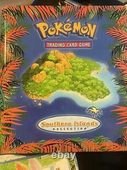 Pokemon Southern Island Complete Set 18/18 Cards Postcards Binder Near Mint