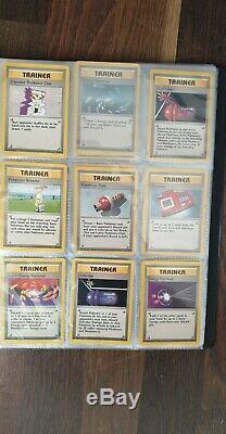 Pokemon card base set near complete