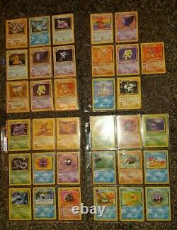 Pokemon card near Complete Fossil Set only 2 missing 1999 WOTC 16x 1st edition