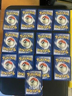 Pokemon cards Base Set complete 102/102 (CHARIZARD NEAR MINT 4/102) LIGHT PLAY