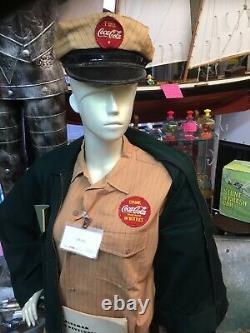 Rare! 1940s50s Coca Cola Delivery Driver Complete Uniform Near Mint Cond. WOW