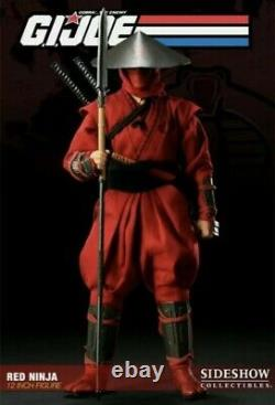SIDESHOW G. I. Joe Red Ninja 16 Scale Collectible Figure Used but complete near