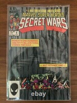 Secret Wars #1-12 Marvel Comics Complete Set 1984 Near Mint Blue Galactus