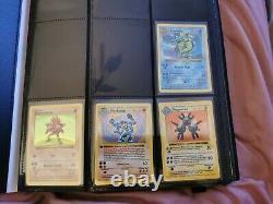 Shadowless Base Set Pokemon 1999 Near Complete Included ERROR Red Cheek Pikachu