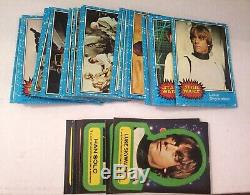 Star Wars Series One BLUE Complete Trading Card Set Near Mint With Stickers 1977