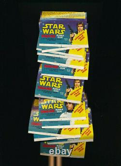 Star Wars Sugar Free Wrapper Bubble Gum Near Complete Set 1977 1978 Super Rare