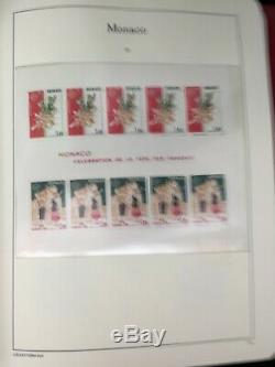 TCStamps 3x Album MONACO Postage Stamp Collection Near COMPLETE Lighthouse MNH