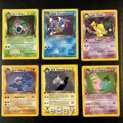 TEAM ROCKET 1st Edition complete set 83/82 NM near mint Pokemon
