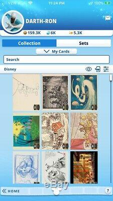 Topps Marvel Disney Collect Digital NEAR COMPLETE Collection -5.3k Score 11k Car