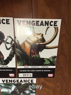 Vengeance 2 3 4 5 6 Near Complete Set 2-6 No 1, 2nd App. Ms. America Chavez 2011