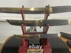 Very Rare Cold Steel Vintage Emperor Tanto Complete Set Near Mint #0253