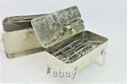 Very Rare WW1 German Near Complete Field Surgeons Kit + Original Leather Case