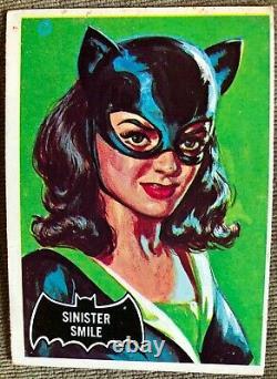 Vintage 1966 Batman Black Bat Orange Back Trading Cards Near Complete (54/55)