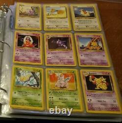 Vintage Pokemon Card Collection Binder -Near Complete Base Set 86 Card Lot EXC