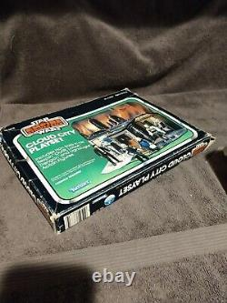Vintage star wars CLOUD CITY PLAYSET near complete with box, pegs, & figures