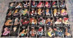 WDI Disney Heroines Profile Pin Set Near Complete 32/35- Ariel, Elsa, Tinkerbel