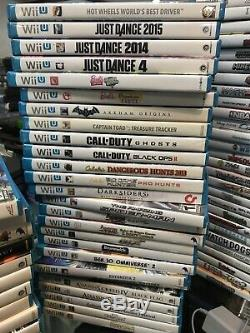 Wii U & Wii Console & Game Lot 148 Games + Controllers Near Complete Collection