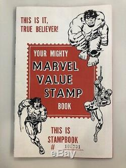 Your Mighty Marvel Value Stamp Book Near Complete 100 Stamps Spiderman Hulk +